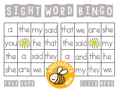 Bingo printables kindergarten mom sight words are generally words that cannot be sounded out phonetically or have a silent letter these are words children will simply need to memorize by ibookread ePUb