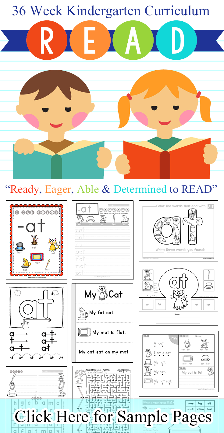 Word Family Printables – Word Family Worksheets for Kindergarten