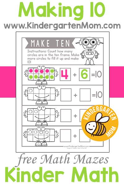 Kindergarten Math Printables Kindergarten Mom