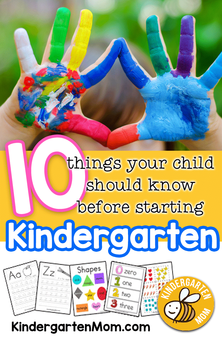 Ten Things Your Child Should Know Before Starting Kindergarten