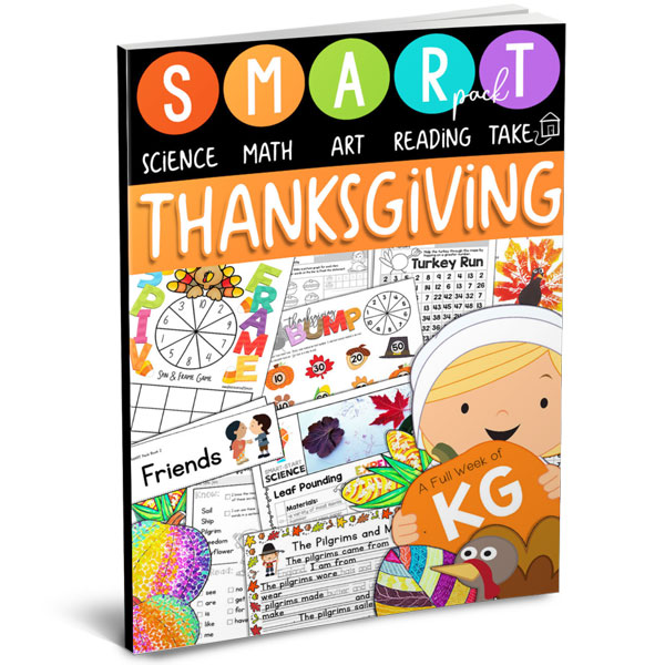 Thanksgiving SMART Pack for Kindergarten