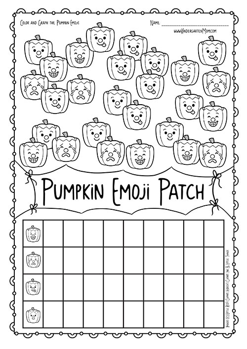 pumpkin patch emoji math kindergarten mom. Black Bedroom Furniture Sets. Home Design Ideas