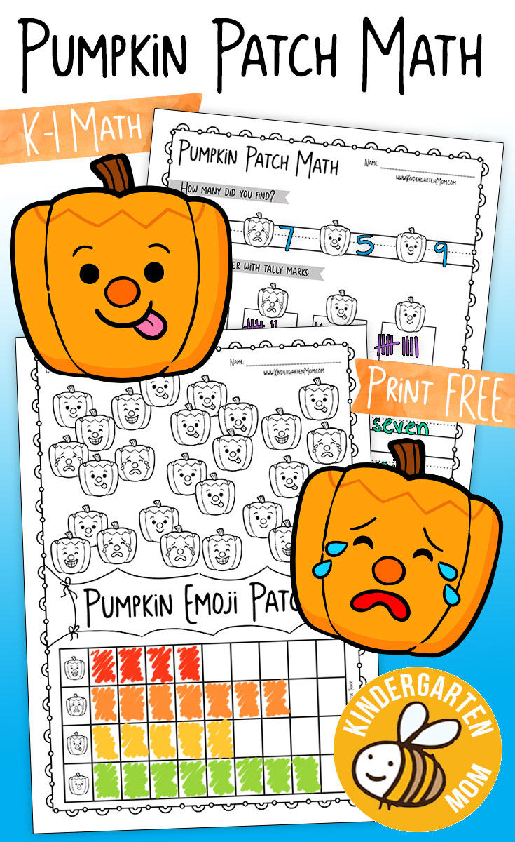 Pumpkin Themed Kindergarten Math Worksheets