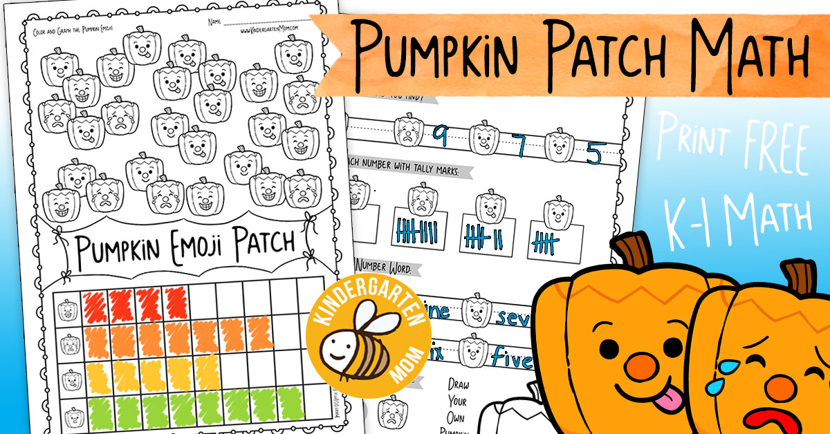 Pumpkin Themed Kindergarten Math Worksheets - Kindergarten Mom