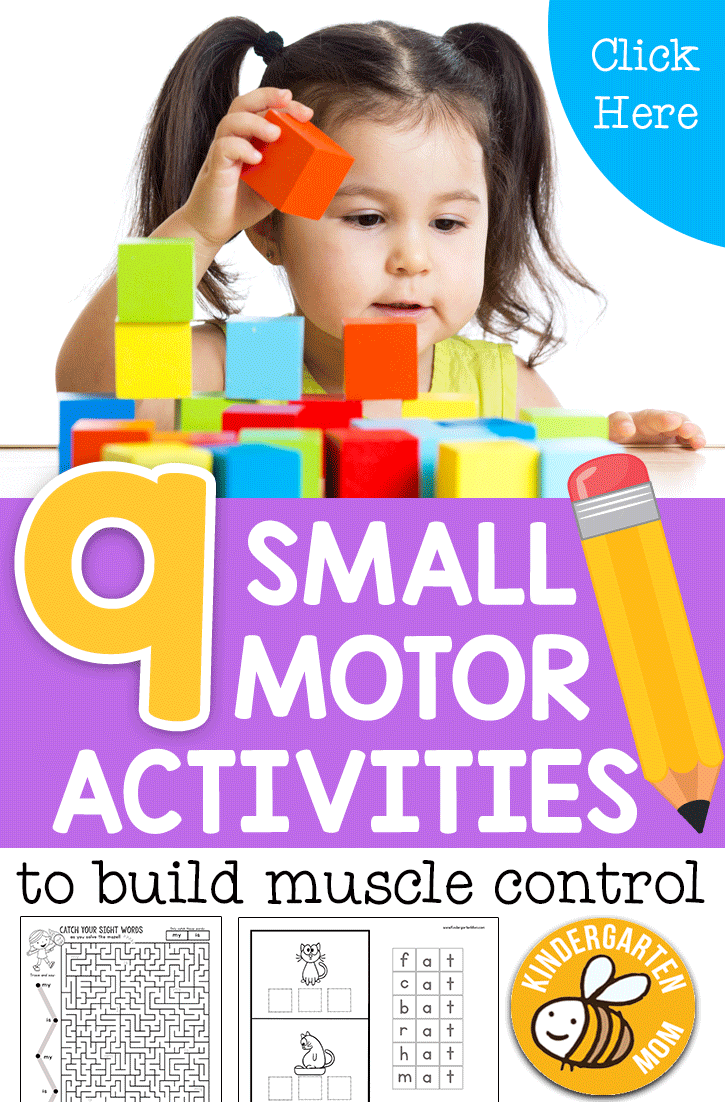 Developing Small Motor Control Before Kindergarten
