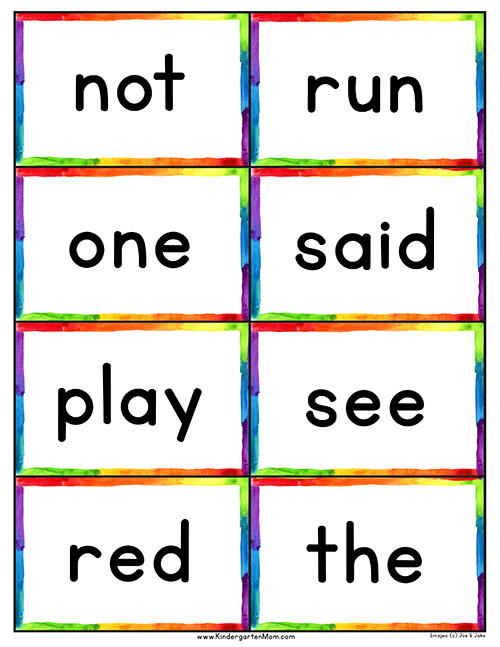 word and picture flashcards
