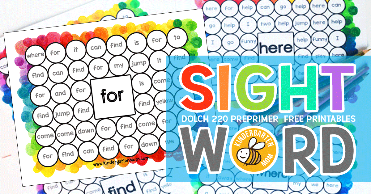image about Printable Sight Word identify Sight Term Printables - Kindergarten Mother