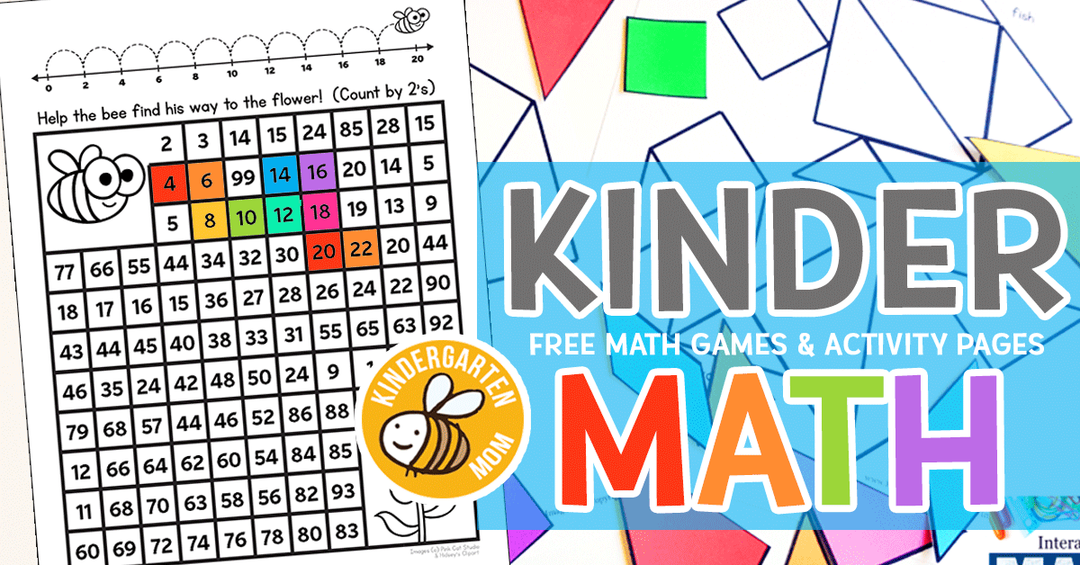 kindergarten math printables  kindergarten mom kindergarten math printables kindergarten is a great time to expand on  preschool counting skills students can begin to learn larger numbers  number words