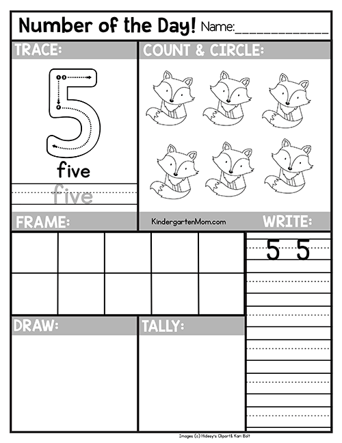 worksheets Archives - Kindergarten Mom