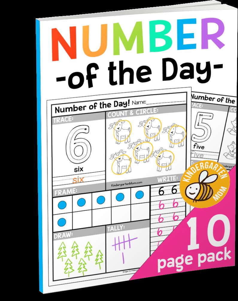 Free Number Day Worksheets on Free Kindergarten Worksheets For R