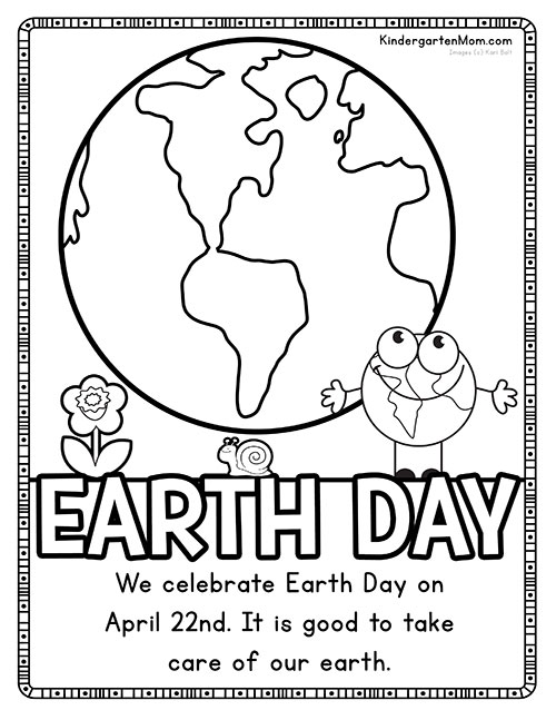 earth day printables kindergarten mom. Black Bedroom Furniture Sets. Home Design Ideas
