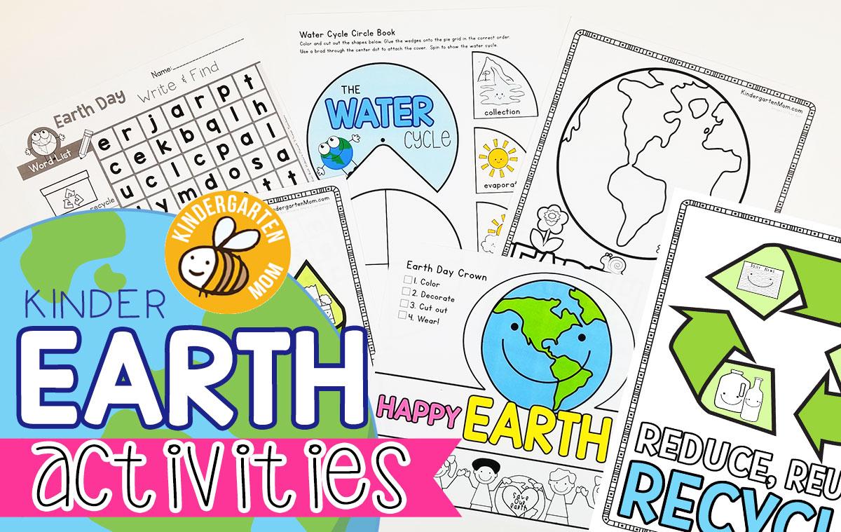 Earth Day Printables Kindergarten Mom