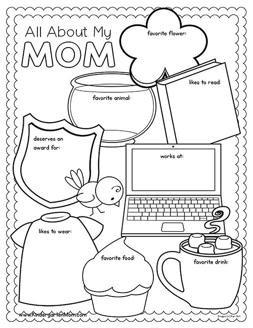 Kindergarten Mothers Day Worksheets