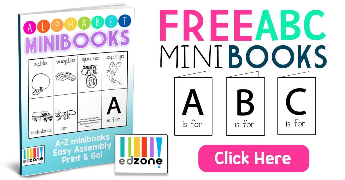 photo about Printable Mini Booklets called Alphabet Minibooks - Kindergarten Mother