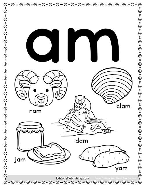 AM Word Family Worksheets - Kindergarten Mom