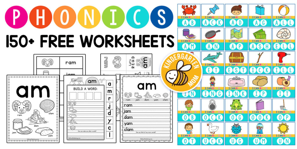 Phonics Worksheets - Kindergarten Mom