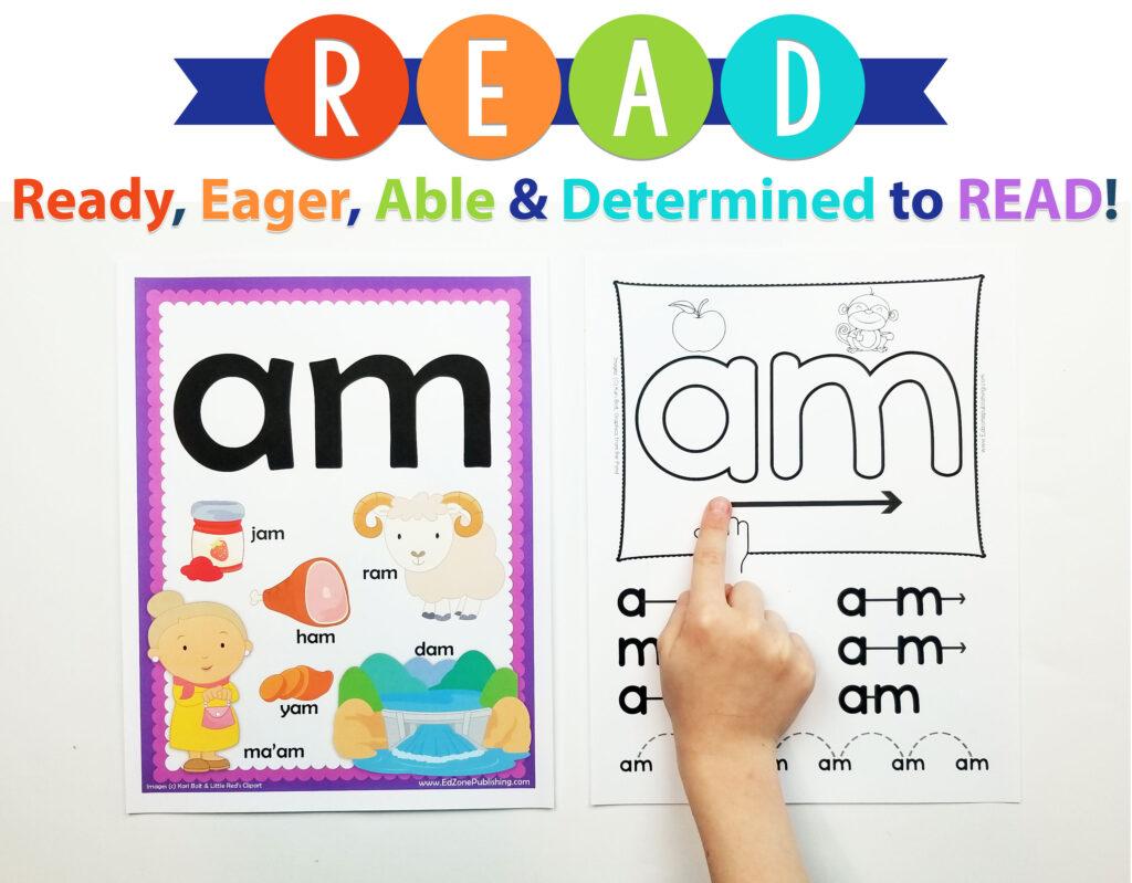 Am Word Family Worksheets Kindergarten Mom