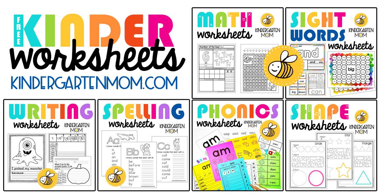 Kindergarten Worksheets - Kindergarten Mom