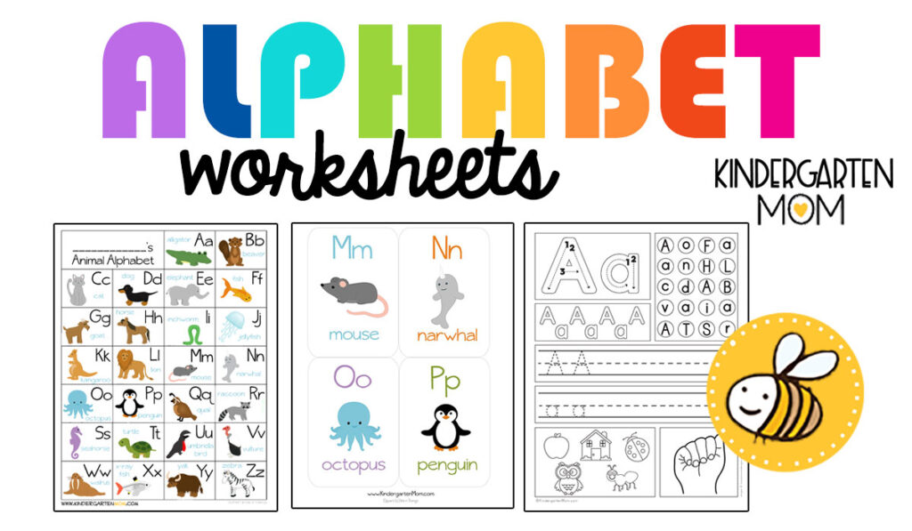 Kindergarten Alphabet Printables - Kindergarten Mom