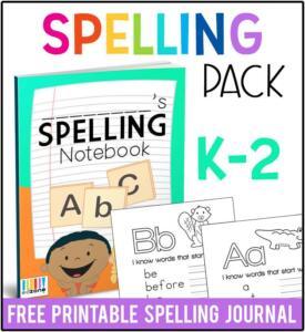 KindergartenSpellingPack